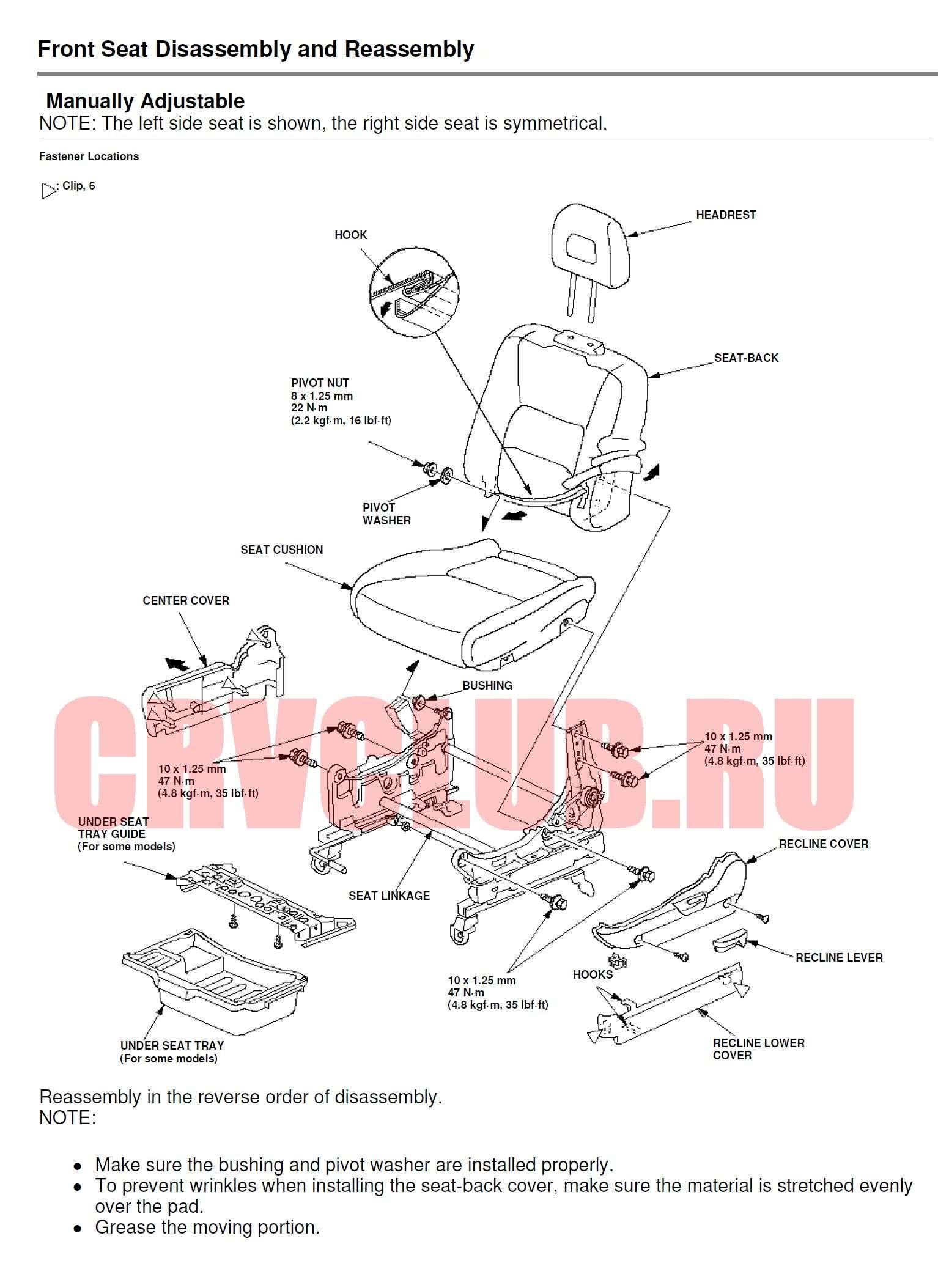 схема крепления заднего крыла хонды срв 2012